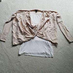 Tan sweater with tank